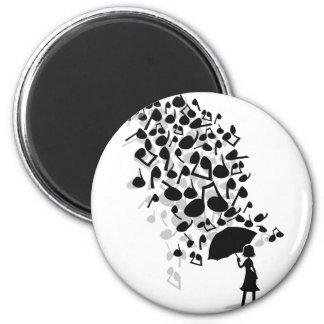 Singin en la lluvia iman de nevera