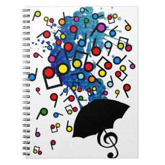 Singin en la lluvia libros de apuntes con espiral