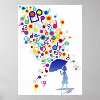 Singin en la lluvia póster
