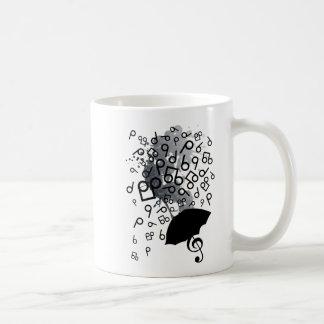 Singin en la lluvia taza básica blanca