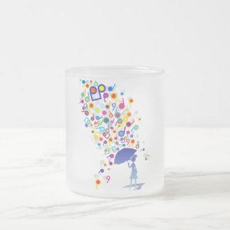 Singin en la lluvia taza cristal mate