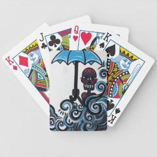 Singin en los naipes de la lluvia baraja cartas de poker