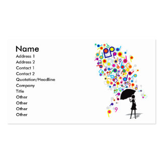 Singin' in the Rain Double-Sided Standard Business Cards (Pack Of 100)