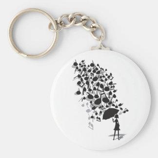 Singin' in the Rain Basic Round Button Keychain