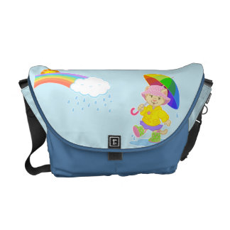 """Singin' in the Rain"" medium messenger bag"