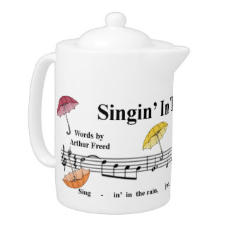 """Singin' In The Rain"" Teapot w/Umbrellas"