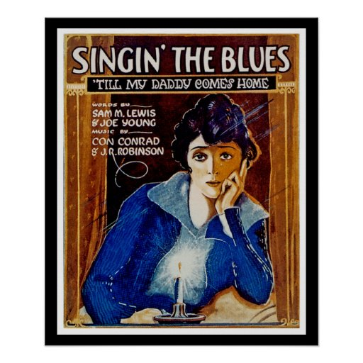 Singin los azules póster