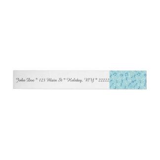 Singin the Blues Musical Pattern Wrap Around Address Label