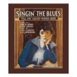 Singin' The Blues Vintage Song Sheet Poster