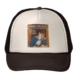 Singin' The Blues Vintage Song Sheet Trucker Hat