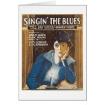 Singin' The Blues Vintage Songbook Cover Card
