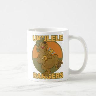Singin', Uke Playing Bear Mascot, Ukulele Rangers Coffee Mug