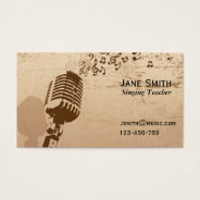 Singing And Vocal Coach Music Teacher Freelance Business Card at Zazzle