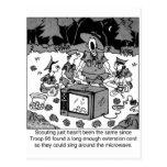 Singing Around the Microwave Postcards