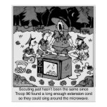 Singing Around the Microwave Poster