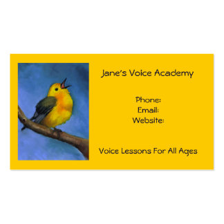 Singing Bird: Art: Voice Lessons, Calendar on Back Double-Sided Standard Business Cards (Pack Of 100)