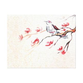 Singing Bird Background Canvas Print