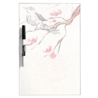 Singing Bird Background Dry-Erase Board