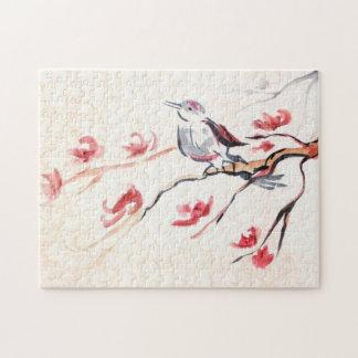 Singing Bird Background Jigsaw Puzzle