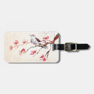 Singing Bird Background Tag For Luggage