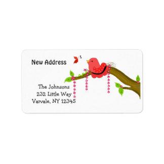 Singing Bird New Address Label