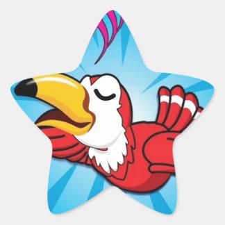 Singing Bird Star Sticker