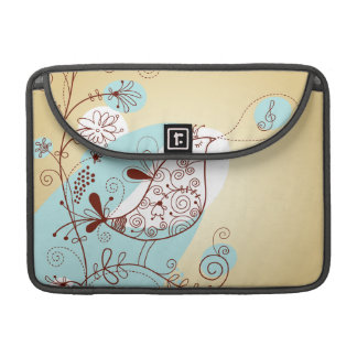 Singing Bird with Floral Sleeves For MacBooks