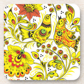 Singing Birds Hohloma Drink Coaster