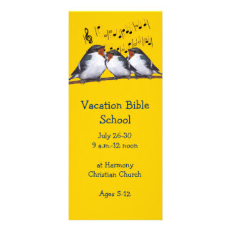 Singing Birds: VACATION BIBLE SCHOOL INVITATIONS Rack Card