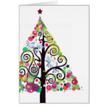 Singing Birds Watercolor Christmas Greeting Card