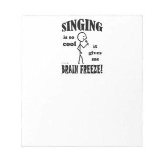 Singing, Brain Freeze Notepads