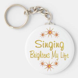 Singing Brightens My Life Basic Round Button Keychain