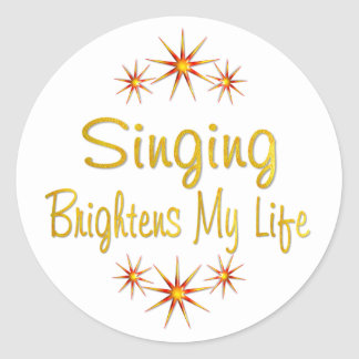Singing Brightens My Life Classic Round Sticker