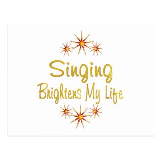 Singing Brightens My Life Postcard