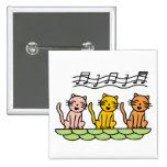 Singing Cat 2 Inch Square Button