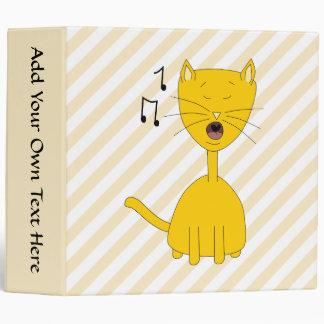 Singing Cat. 3 Ring Binder