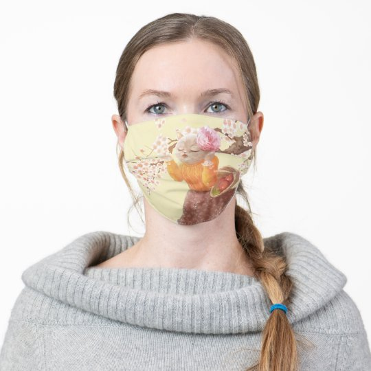 Singing Cat Adult Cloth Face Mask