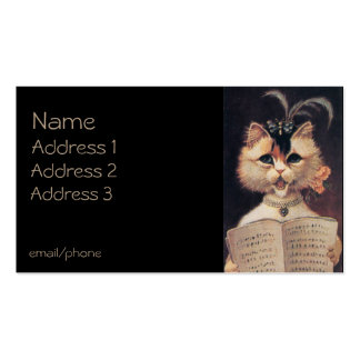 Singing Cat Double-Sided Standard Business Cards (Pack Of 100)
