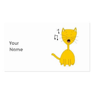 Singing Cat. Business Card