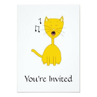 Singing Cat. Card