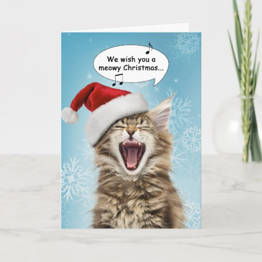 Singing cat christmas card zazzle singing cat christmas card m4hsunfo