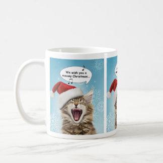Singing Cat Christmas Mug