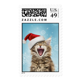 Singing Cat Christmas Postage