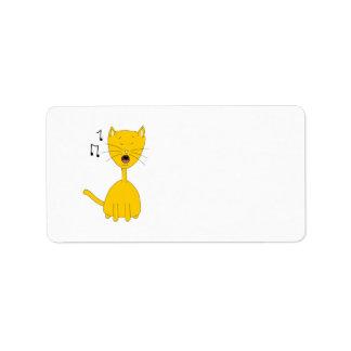 Singing Cat. Label