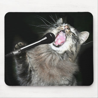 Singing cat mouse pad