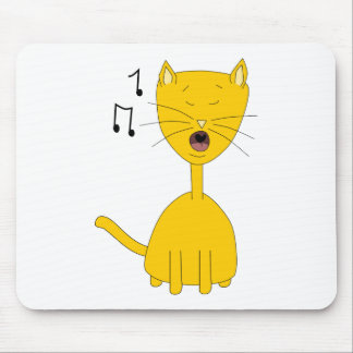 Singing Cat. Mouse Pad
