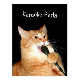 Singing cat postcard
