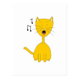 Singing Cat. Postcard