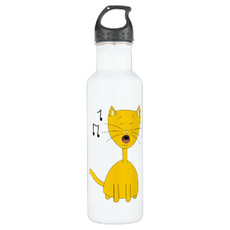 Singing Cat. Stainless Steel Water Bottle