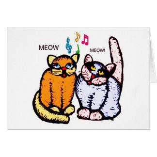 SINGING CATS MEOW MEOW! CARD